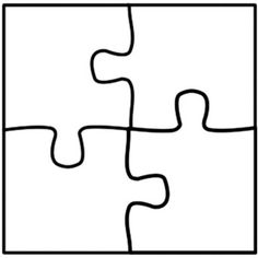 Cooperative learning jigsaw puzzle template four piece jigsaw puzzle template - use for number puzzles (number, number word, tally marks, 10 frame)Best Photos of Jigsaw Puzzle Piece Template Printable - Jigsaw Puzzle Pieces Template, Blank Best Im Puzzle Piece Crafts, Blank Puzzle Pieces, Printable Puzzles, Printables, Free Printable, Puzzle Piece Template, Frame Template, Busy Book, Interactive Notebooks