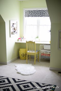 Office-Craft Room makeover - Placeofmytaste.com-29; idea for dormer alcove in my sewing studio