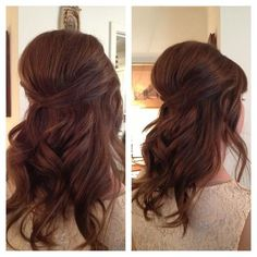 Cute curls, and big bump! The higher the hair the closer to heaven! Not for the shower...but for the wedding maybe