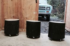 Wood Stump Stool or Side Table Shou Sugi Ban от urbanmillworks