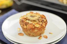 Banana Almond Baked Oatmeal Cups (Vegan + Gluten Free + Dairy Free)