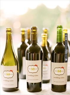personalized wine labels | CHECK OUT MORE IDEAS AT WEDDINGPINS.NET | #weddingfood #weddingdrinks