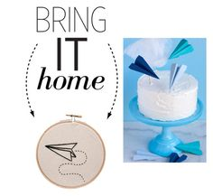 """""""Bring It Home: Stitch Paper Airplane Embroidered Wall Art"""" by polyvore-editorial ❤ liked on Polyvore featuring interior, interiors, interior design, home, home decor, interior decorating and bringithome"""