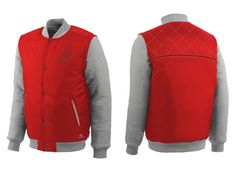 Wholesale Cooper Red And White Baseball Jacket Suppliers