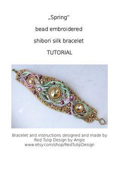 Shibori TUTORIAL Bead Embroidered Shibori Silk by RedTulipDesign, $14.50