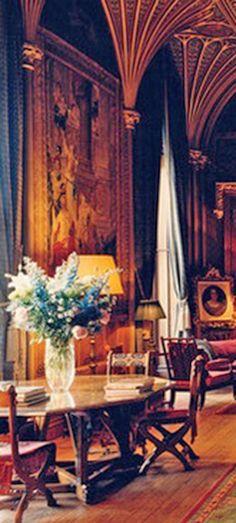Gothic drawing room I English Manor, English Style, Eastnor Castle, English Interior, Interior Decorating, Interior Design, Decorating Ideas, Grand Homes, French Decor