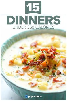 15 Dinners Under 350 Calories. Whether you're counting calories for a special diet or you just like to make every calorie count, dive into our most delicious, easy to make, low-calorie recipes that all clock in under 350 calories. Low Calorie Dinners, No Calorie Foods, Low Calorie Recipes, No Carb Diets, Diet Recipes, Diet Meals, Lean Dinners, Delicious Recipes, Calorie Counting Diet