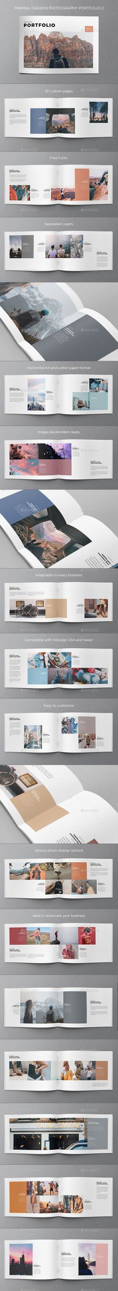 Minimal Fashion Photography Portfolio 2  — InDesign Template #brochure #photography • Download ➝ https://graphicriver.net/item/minimal-fashion-photography-portfolio-2/18017423?ref=pxcr