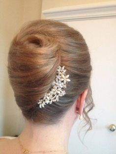 Trendy Wedding Hairstyles Updo Step By Step French Twists Twist Hairstyles, Bride Hairstyles, Unique Hairstyles, Famous Hairstyles, Hairstyles 2016, Beautiful Hairstyles, Medium Hairstyles, African Hairstyles, Formal Hairstyles