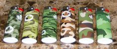 Lot Of 6 Bic Army Camouflage Series Full Sized Lighters   $18.00 usd