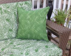 Refresh your tired outdoor cushions before summer comes!  Visit our Etsy shop and choose from our extensive outdoor fabric selection.  Design Your Own Cushions Bedding and Home by MissPollysPieceGoods Bench Cushions Outdoor, Window Seat Cushions, Outdoor Pillow Covers, Throw Pillow Covers, Outdoor Fabric, Glider Replacement Cushions, Glider Rocker Cushions, Rocking Chair Cushions, Custom Cushions