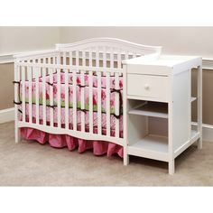 Child of Mine by Carter's Lexington Crib and Changer Combo, Vintage White