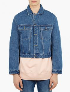 CMMN SWDN,Boris Vintage Wash Denim Jacket for SS16