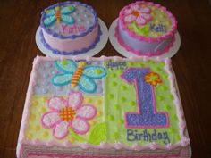 Butterfly 1st Birthday Cakes For Girls