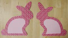 Ostern Basteln Häschen Hasen Anleitung Papier Streifen