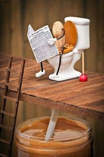 """Where peanut butter comes from!"" --took me a second to get this but it's SUPER funny! My grandpa actually has that peanut on the toilet toy! Lol!"