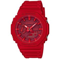 CASIO G-Shock GA-2100-4A Carbon Core Guard Red Casio G-shock, Casio Watch, Skagen, Led Auto, Casio G Shock Watches, G Shock Men, Elapsed Time, Casual Styles