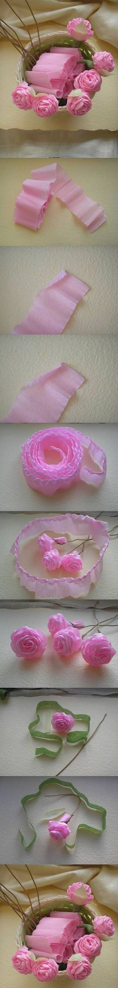 16  DIY Rose from Crepe Paper1f6b04 | DIY