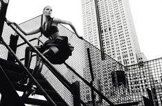 Alisa Ahmann in 'Manhattan Rooftoop' by Txema Yeste for Numéro, September 2015