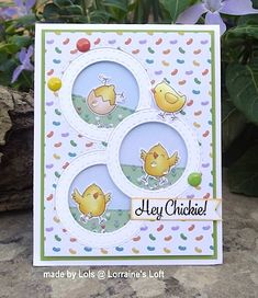 Lorraine& Loft: Simon Says: Easter Inspired Wrapping Paper Crafts, Card Crafts, Window Cards, Mothers Day Cards, Simon Says, Cards For Friends, Birthday Cards, Birthday Images, Birthday Quotes