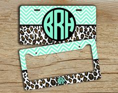 Monogram license plate or frame front car tag  by ToGildTheLily, $12.99