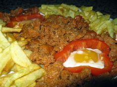 El Rincón de Casa El Caminero (Merás-Asturias): Picadillo con huevos y patatas fritas