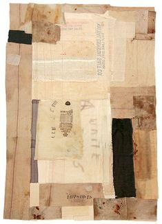"Royal Crystal Salt, 34"" x 48"",hand stitching on salvaged fabric.  Lisa Hochstein"