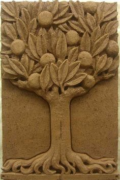 Eisentrager Studio for relief sculpture & architectural ornamentation A individual amount resting it's brain concerning Sculpture Projects, Sculpture Clay, Clay Projects, Wall Sculptures, Logo Arbol, Clay Wall Art, Ceramic Techniques, Clay Tiles, Pottery Making