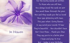 Happy Birthday Quotes For Deceased Mom