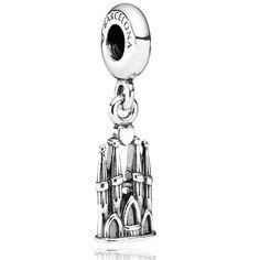 Pandora- Sterling silver Sagrada Familia Basilica charm to remind me of Spain