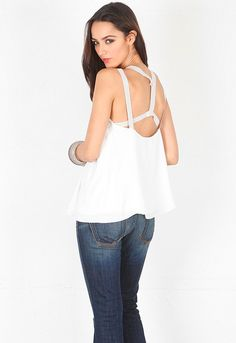 Elizabeth and James Giselle Top in Ivory  $245