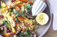 quinoa salad with roasted veggies {vegan}