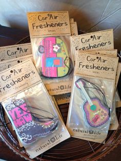 Natural Life car fresheners! We love these!