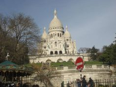 Sacre Coeur Basilica From the Bottom of the