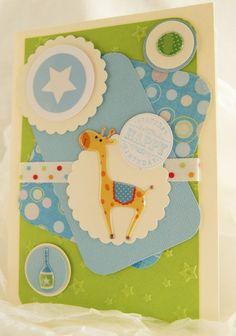 Kindergeburtstag Glückwunschkarte! von By Mar auf DaWanda.com
