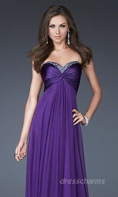 Sheath Chiffon Sweetheart Long Dress Charm86049. Love for a bridesmaid(: