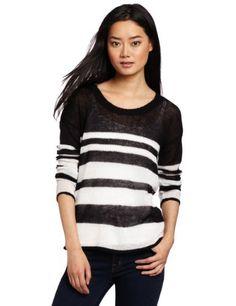 Kensie Womens Fine Gauge Tissue Knit Sweater, Black/White, Small Kensie,http://www.amazon.com/dp/B009ASCH4U/ref=cm_sw_r_pi_dp_eajGrb2D5CFC4AAC