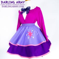 Cosplay Manga Costume Smart Sparkle Pony Cosplay Lolita Skirt - Custom cosplay alternatives for the cute enthusiast Cosplay Outfits, Cosplay Costumes, Cosplay Ideas, Costume Ideas, Kimono Dress, Dress Skirt, Sparkle Pony, Purple Accessories, Twilight Sparkle