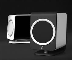 Feniks Essence Desktop Speakers -- Designed by renowned audio engineer Gordon Rankin & featuring all aluminum construction plus audiophile-quality components, Feniks Essence speakers are a serious standout when it comes to desktop speaker systems. They deliver 50 watts of crisp, full range sound per channel & feature a 24-bit / 96kHz DAC. They can be powered by USB or 3.5mm analog connector and feature a simple, top-mounted volume dial for control.