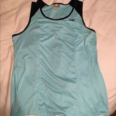 Nike Workout Top, XL Nike Workout Top, size XL, baby blue with navy, love this top-just too snug for me, great condition, I do offer bundle discounts Nike Tops Tank Tops