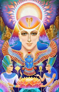 Egyptian Goddess, Egyptian Art, Ancient Aliens, Ancient Egypt, Ascended Masters, Visionary Art, Psychedelic Art, Gods And Goddesses, Deities
