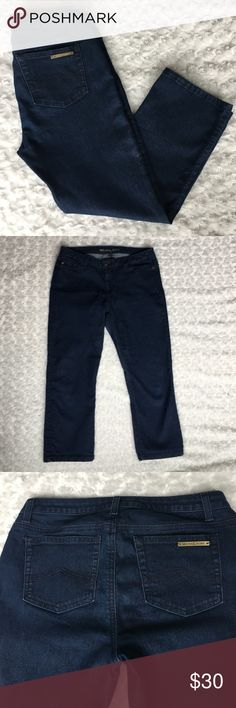 Michael Kors Capris Dark blue wash Worn 2-3 times. In excellent condition. Stretch denim capris. From smoke free and pet free home. Michael Kors Jeans Skinny