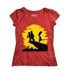 Camiseta Feminina  Os Simpsons - Rei Leão