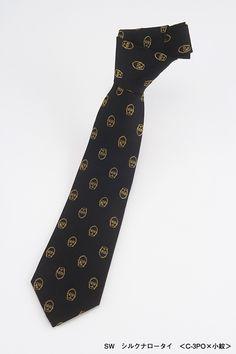 SW narrow silk tie with C3P0
