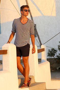 Zara Navy Shirt, Zara Shoes.