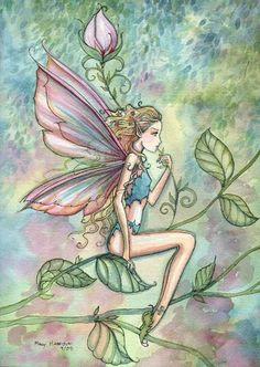 Fairy Art by Molly Harrison - A Moment of Rest