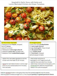spaghetti with sauteed chicken and grape tomatoes | The Yummy Stuff ...