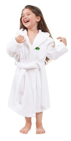 Terry Turtle 100% Turkish Cotton Hooded Bathrobe