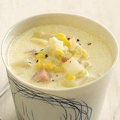 Smoky Ham-and-Corn Chowder Recipe | MyRecipes.com