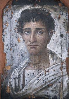 Fayum mummy portrait of a man, Roman Egypt